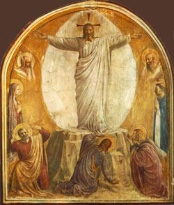 Saintes fêtes de Pâques à tous nos lecteurs Angelico_transfig