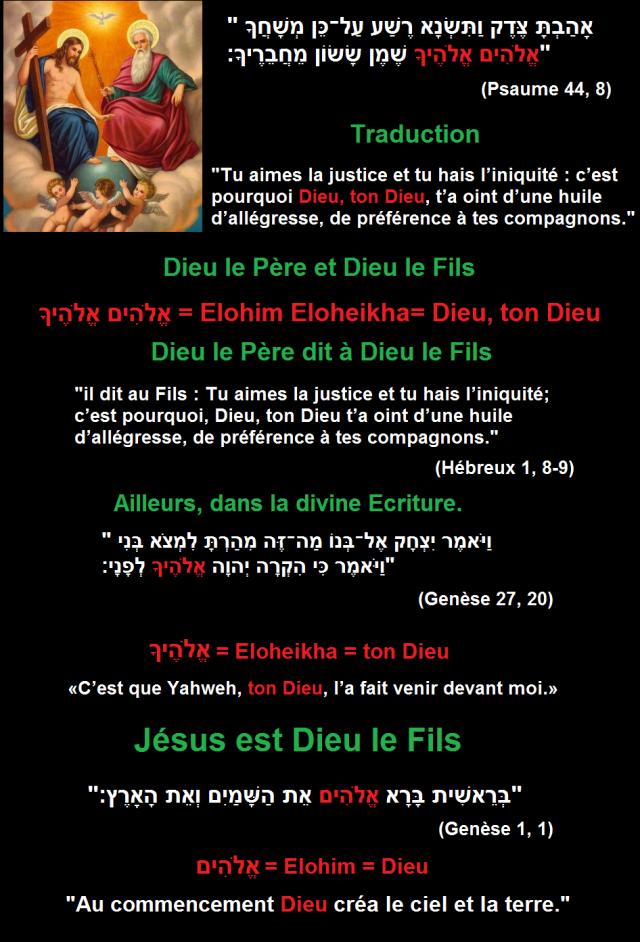 psaume dieu le fils