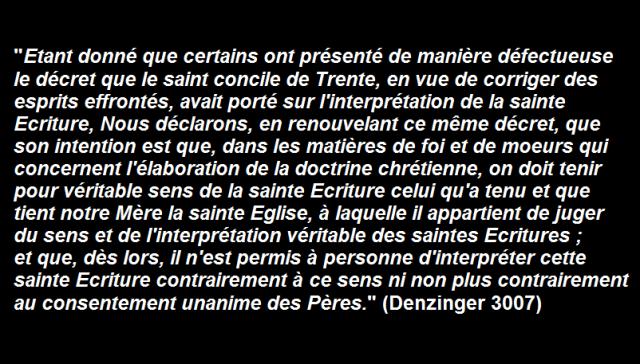 bible denzinger interpretation